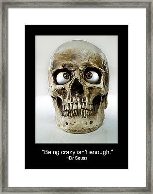 Crazy Framed Print by Rick Mosher