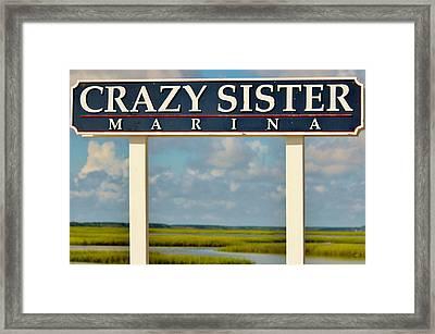 Crazy Sister Marina Framed Print by Cynthia Guinn