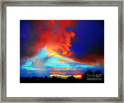Framed Print featuring the photograph Strange Sunset by Mark Blauhoefer