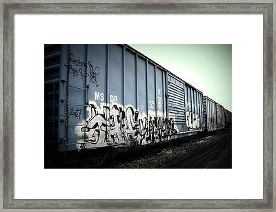 Crazy Train Framed Print by Amanda St Germain