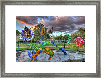 Crazy Tulips At Sunset Framed Print