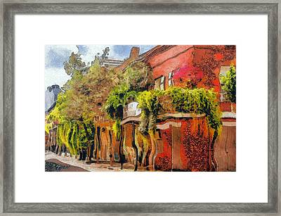 Crazy Whimsy Wacky New Orleans Framed Print