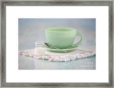 Cream And Coffee Framed Print