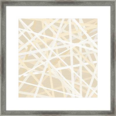 Cream And Tan Art Framed Print