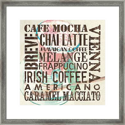 Cream Coffee Of The Day 1 Framed Print by Debbie DeWitt