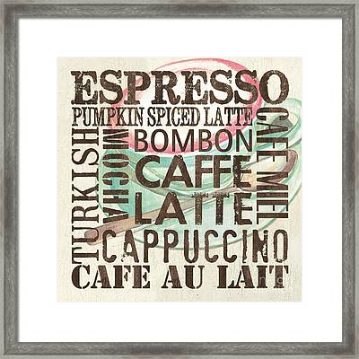 Cream Coffee Of The Day 2 Framed Print