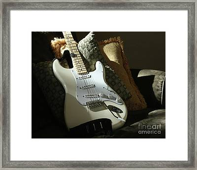Cream Guitar Framed Print