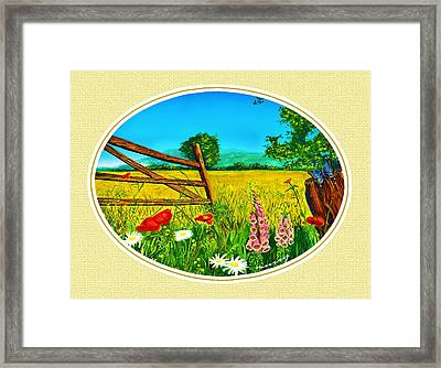 Cream Meadow Framed Print by Russ Murry