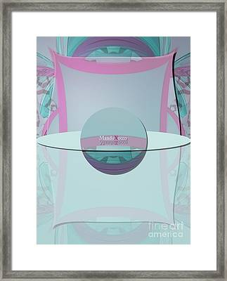 Cream Mint Labelle Framed Print