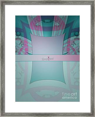 Cream Mint Line Framed Print