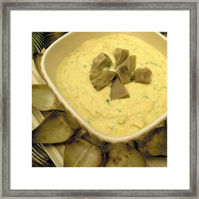 Cream Of Artichoke Soup Framed Print by James Temple