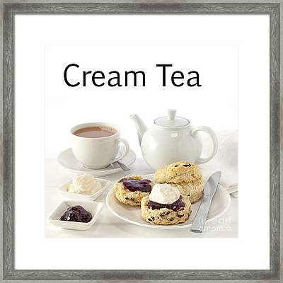 Cream Tea Framed Print by Colin and Linda McKie