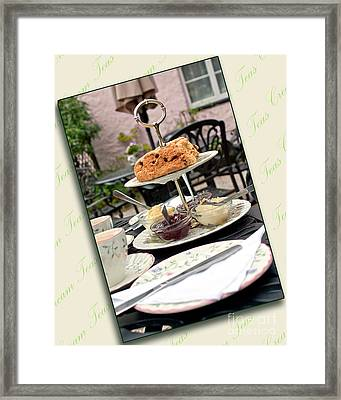 Cream Tea Framed Print by Terri Waters