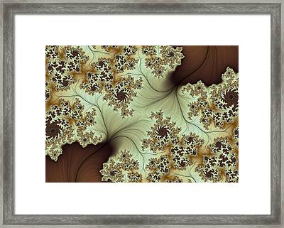Framed Print featuring the digital art Creamed Coffee by Lea Wiggins