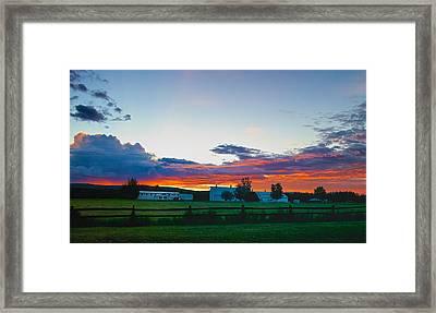 Creamer's Diary Sunrise Fairbanks Alaska Framed Print