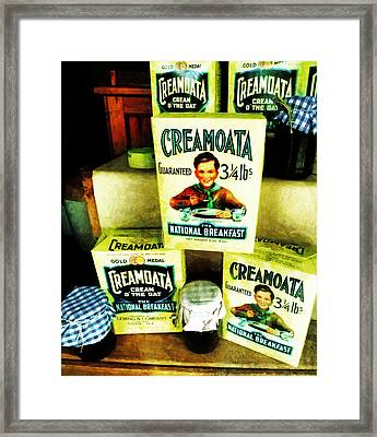 Creamoata - Cream  O' The Oat Framed Print by Steve Taylor