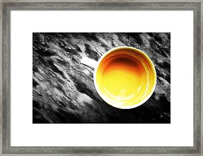 Creamy Coffee Framed Print by Marco Oliveira