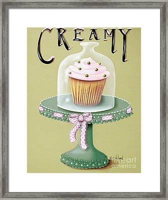 Creamy Cupcake Framed Print by Catherine Holman