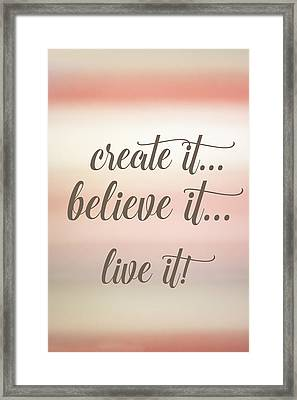 Create It Framed Print