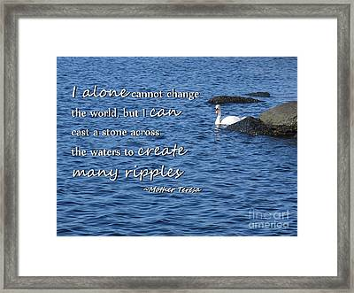 Create Many Ripples Framed Print by Tammie Miller
