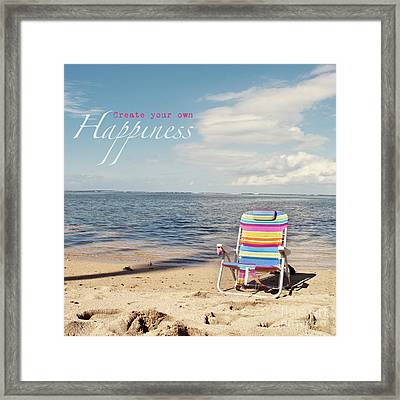 Create Your Own Happiness Framed Print