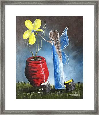 Creating Tomorrow Fairy By Shawna Erback Framed Print by Shawna Erback