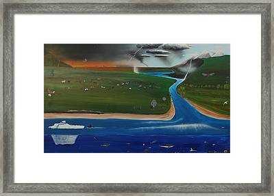 Creation And Evolution - Painting 1 Of 2 Framed Print by Tim Mullaney