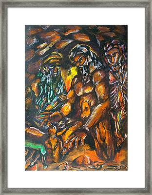 Framed Print featuring the pastel Creation Creacion by Lazaro Hurtado