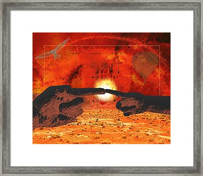 Creation. Framed Print by Diskrid Art