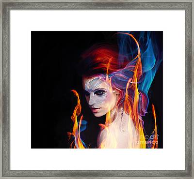 Creation Fire And Flow Framed Print