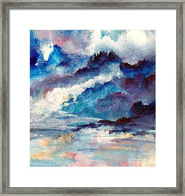Framed Print featuring the painting Creation by Kathy Bassett