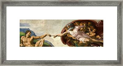 Creation Framed Print by Michelangelo