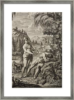 Creation Of Eve From Adams Rib Framed Print by Paul D. Stewart