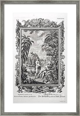 Creation Of Eve, Scheuchzer, 1731 Framed Print