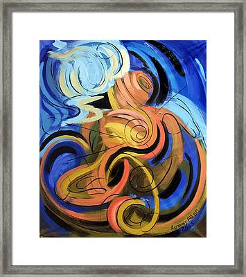 Creation Of Man Framed Print by Anthony Falbo