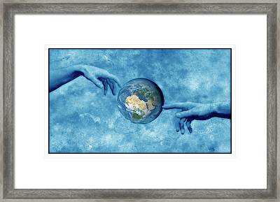 Creation Of The Earth Framed Print by Detlev Van Ravenswaay