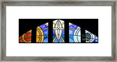Creation Of The Stars Framed Print by Gilroy Stained Glass
