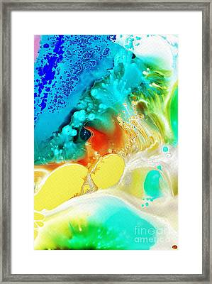 Framed Print featuring the painting Creation Wave by Christine Ricker Brandt