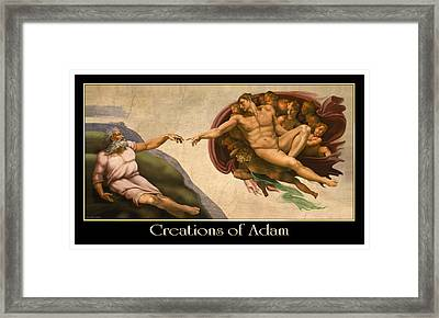 Creations Of Adam Framed Print
