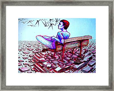 Creative Energy And Determination To Communicate New Ideas To The World Framed Print