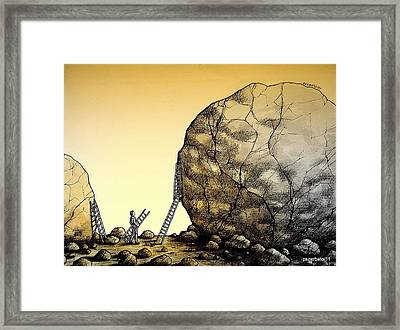 Creative Force Supplants The Physical Strength Framed Print by Paulo Zerbato