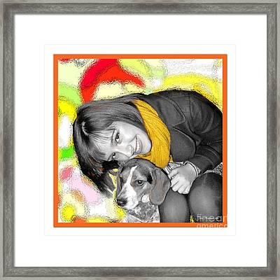 Creative Portrait Sample Framed Print by Joan  Minchak
