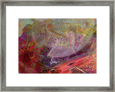 Creative Sounds Digital Banjo And Guitar Art By Steven Langston Framed Print by Steven Lebron Langston