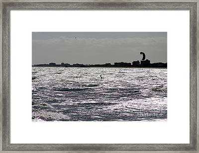 Creative Surfing Framed Print by Chris Thomas