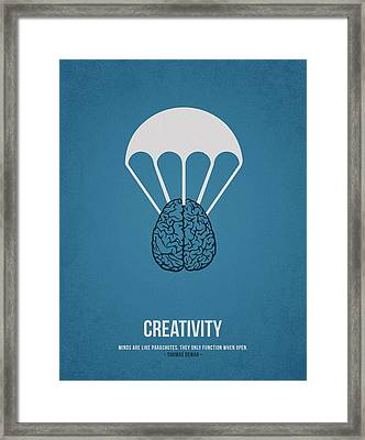 Creativity Framed Print by Aged Pixel