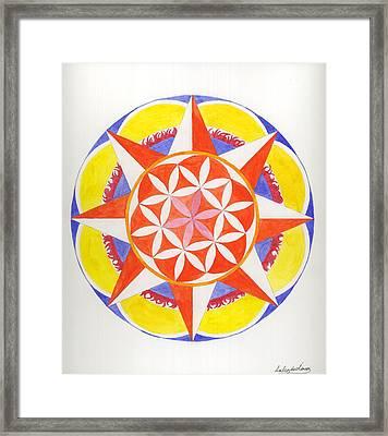 Creativity Mandala Framed Print by Silvia Justo Fernandez