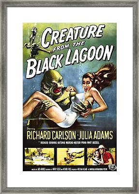 Creature From The Black Lagoon Lobby Poster 1954 Framed Print by Daniel Hagerman
