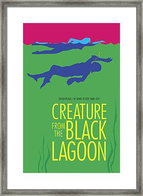 Creature From The Black Lagoon Framed Print by Ron Regalado