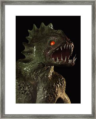 Creature From The Deep Framed Print by Daniel Eskridge