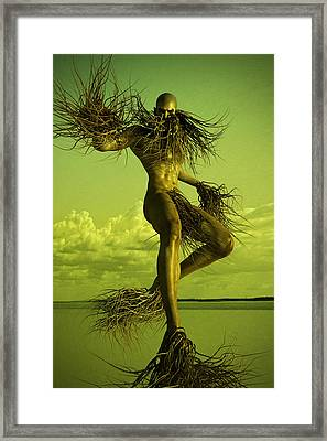 Creature Framed Print by Matt Lindley